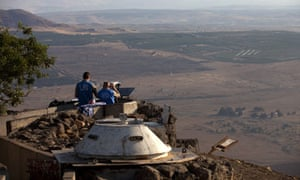 UN peacekeepers monitor the Syrian border from Israel