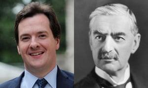 George Osborne and Neville Chamberlain