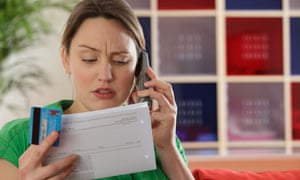 Woman queries a contract over the phone