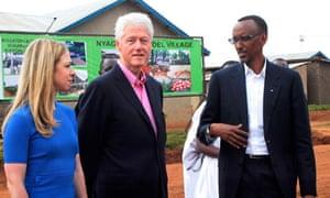 Chelsea Clinton, Bill Clinton and Paul Kagame