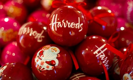 Christmas arrives early as Harrods' festive shop opens its doors   Business    The Guardian - Christmas Arrives Early As Harrods' Festive Shop Opens Its Doors