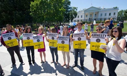 Anti-arms trade campaigners in Washington
