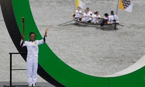 Amber Charles carries the torch