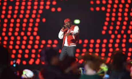 Singer Dizzee Rascal performs during the