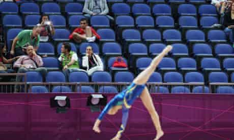 empty seats at women's gymnastics