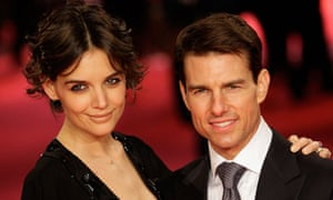 """om Cruise and Katie Holmes on the red carped before the premiere of the movie """"Valkyrie"""" in Berlin"""