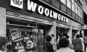 Woolworths in the 1980s.