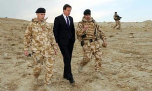 David Cameron visiting Afghanistan, 2009