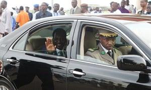 Mali's interim president Dioncounda Trao arrives at Bamako airport