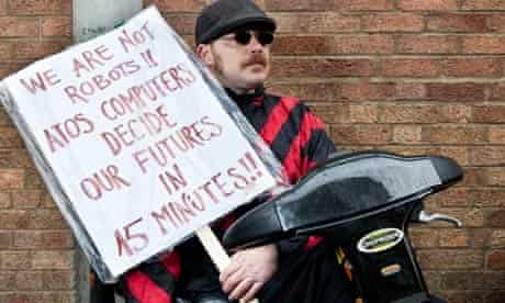 Protesting against disability benefits assessment tests