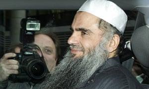Abu Qatada in a car