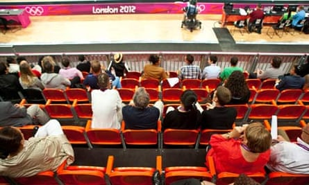 Olympic venue with empty seats
