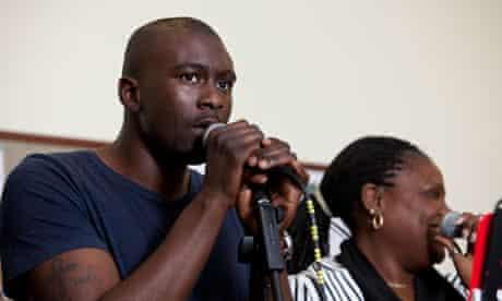 Adrian Harrison, lead singer.