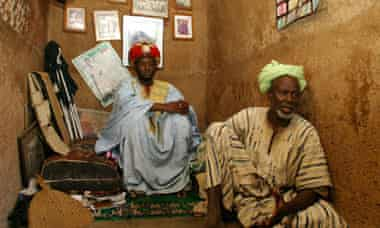The pretender to the Dagbon throne, Abdulai Mahamadu, left, and adviser Alhassan Iddrisu in Yendi.
