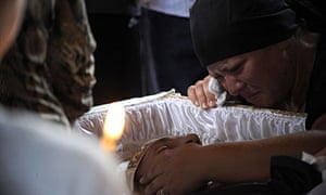 Russian floods funeral