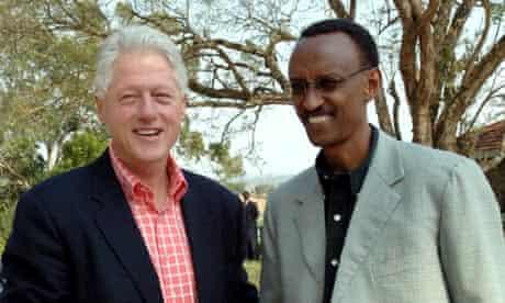 President Clinton with Rwandan President Kagame in Kigali