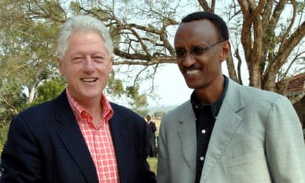 President Clinton with Rwandan President Kagame in Kigali