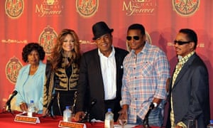 Katherine Jackson with some of her family, 2011