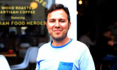 Campaigner Matteo Lamaro of the Curator cafe