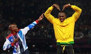 Usain Bolt Mo Farah London 2012 Olympics