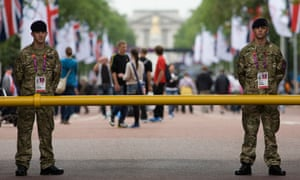 UK - London 2012 Olympics - Soldiers on security duties in the Mall