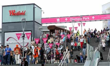 Games spectators have been using the Westfield shopping centre as a route to the Olympic Park.