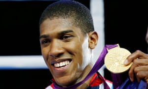 Anthony Joshua with gold medal