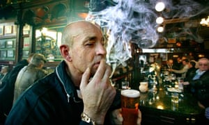 The Tolbooth Bar in Glasgow in 2004 before the ban on smoking in enclosed public spaces in Scotland