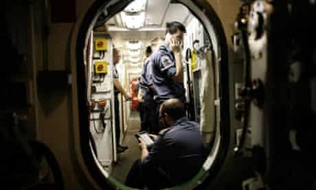 HMS Triumph's cramped conditions