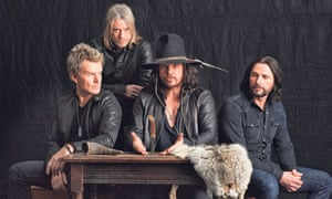 The Cult's 2012 incarnation: Billy Duffy, Chris Wyse, Ian Astbury, John Tempesta