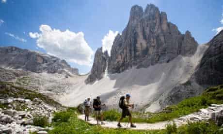 Dolomite glaciers melting