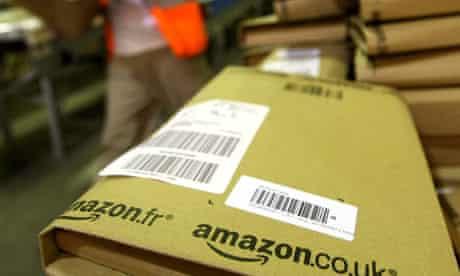 Amazon Parcels ready for despatch