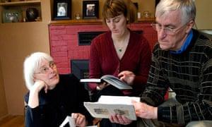 Rachel Corrie's family: Cindy, Sarah and Craig, 2008
