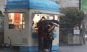 heavy rain London
