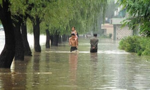 North Korea floods