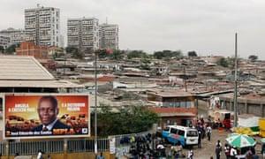 Luanda election poster Angola