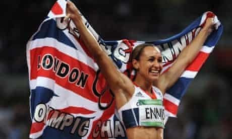 Look, Britain, you're WINNING … Jessica Ennis took gold in the heptathlon