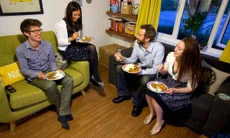 Huma Qureshi and her guests at iftar.