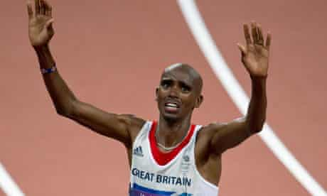 Mo Farah … embraced by the nation.