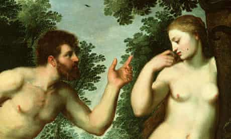 Detail of Rubens' painting of Adam and Eve