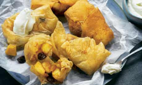 Yotam Ottolenghi's fried brik parcel with apple and clove