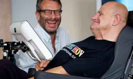 Alan Martin joking with Jon Henley