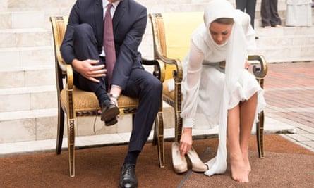 Prince William and Catherine Duchess of Cambridge on Diamond Jubilee Tour