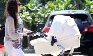 Kourtney Kardashian with baby Penelope, September 2012