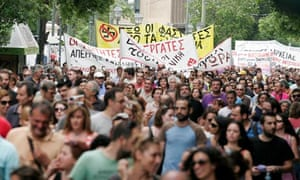 Greeks Protest Planned Pay Cuts