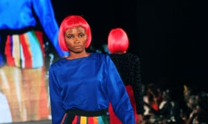 A model displays clothes from The Collec