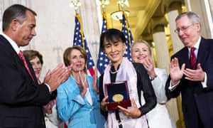 Aung San Suu Kyi awarded the Congressional medal