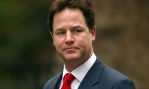 The deputy prime minister Nick Clegg