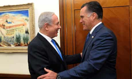 Binyamin Netanyahu and Mitt Romney