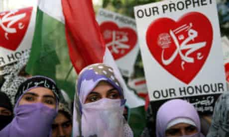 Women protesters in Pakistan